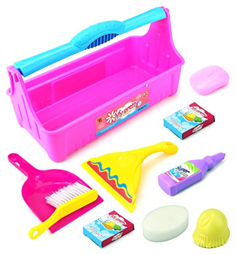 My Pretty Cleaner Pretend Play Toy Cleaning Playset w/ Carrying Case, Variety of Accessories