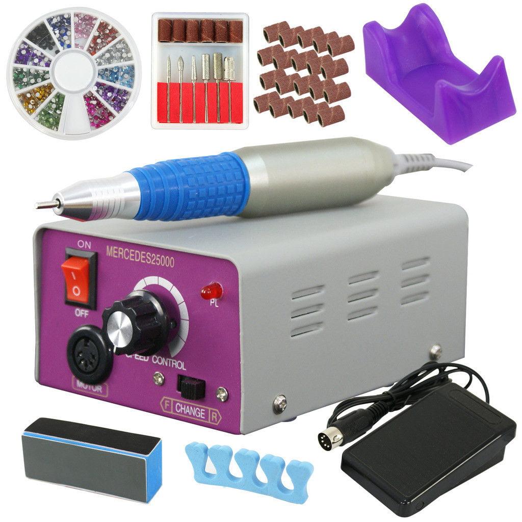 Zeny 25000RPM Pro Manicure Tool Pedicure Electric Drill File Nail Art Machine Kit Set