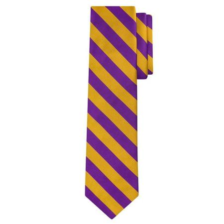 - Jacob Alexander Stripe Woven Men's College Striped Extra Long Tie