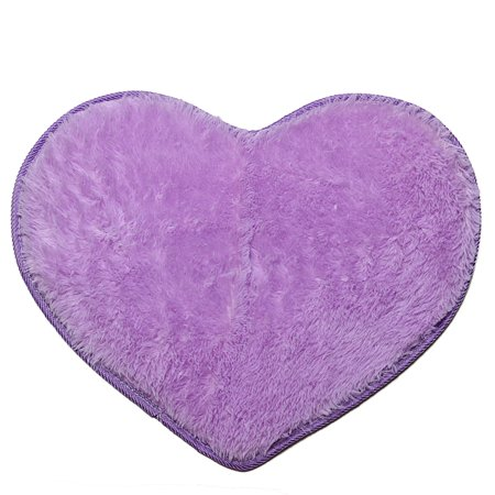 Heart Shapes (Meigar Soft Fluffy Heart Shape Area Rug Carpet for Living Room Bedroom Bathroom Kitchen Home Decor 19.7