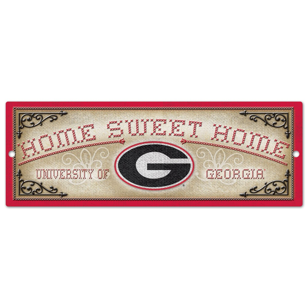 Georgia Bulldogs Official NCAA Sign 6x17 Wood by Wincraft 901125