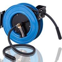 "GHP 25-Ft 300PSI 3/8"" Outlet 1/4"" NPT Retractable Rubber Air Compressor Hose & Reel"