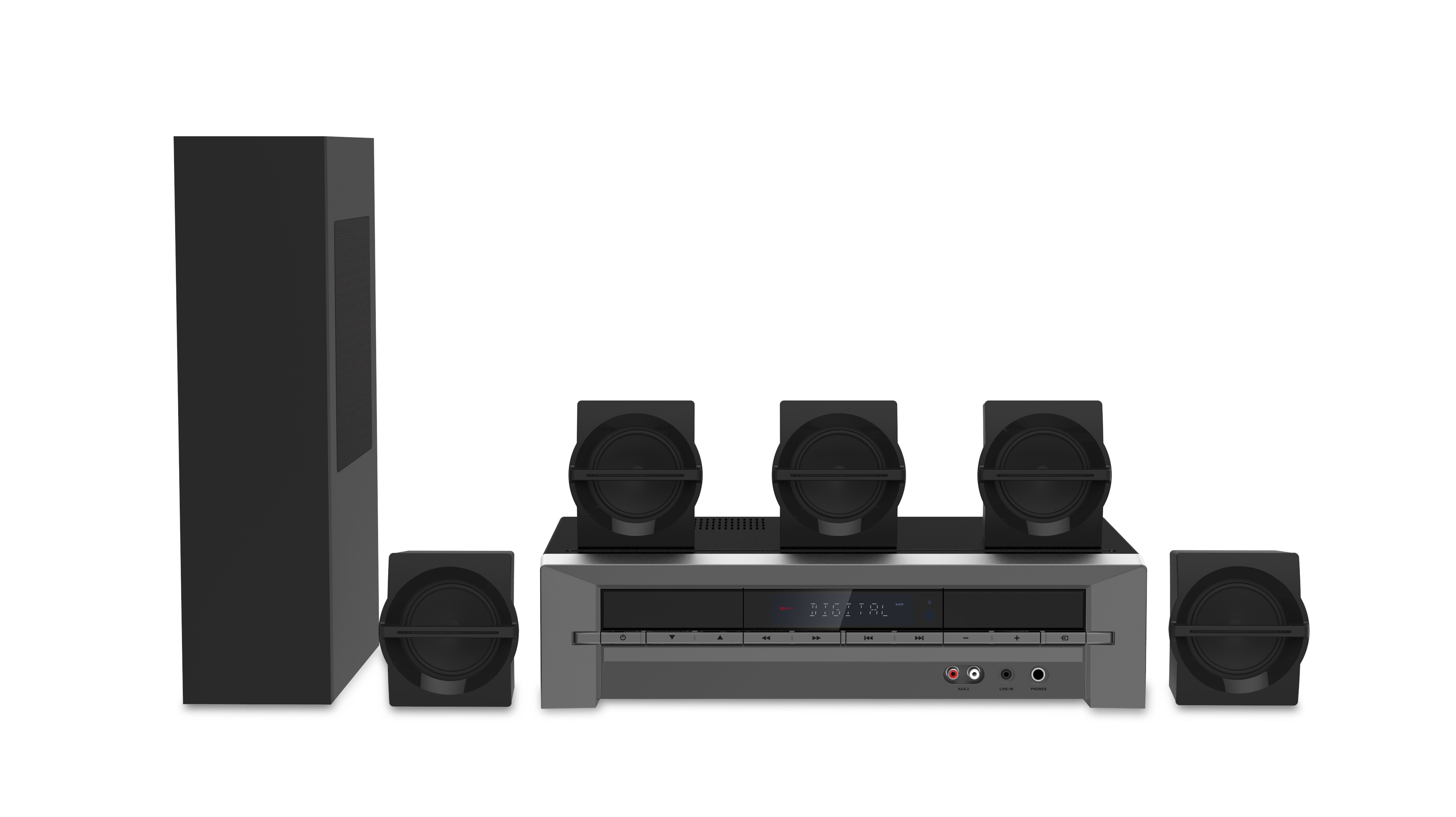 Blackweb 1000-Watt 5 1 Channel Receiver Home Theater System With BT