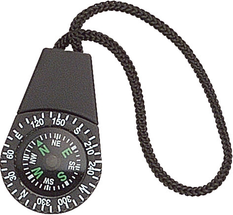 Black Zipper Pull Pocket Compass by Rothco