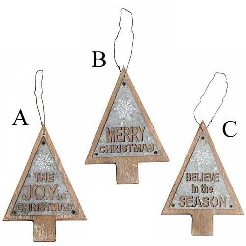 Metal Tree Ornament