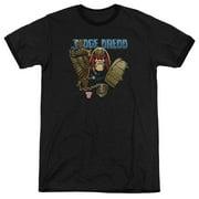Judge Dredd Movie Smile Scumbag Adult Ringer T-Shirt Tee