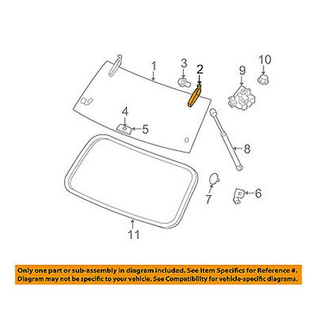 jeep chrysler oem 06-10 commander liftgate tailgate hatch-hinge right  55369022ac - walmart com