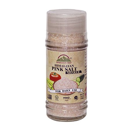 Himalayan Chef Pink Fine Salt Shaker, 3.5 Ounce, Sea Salt-Fine