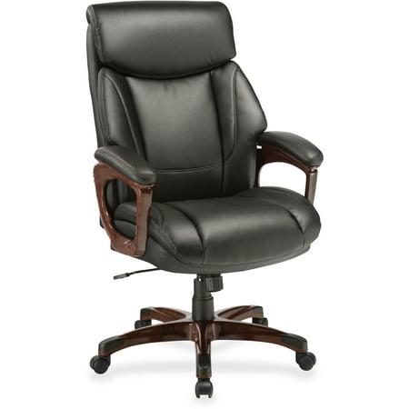 Lorell Executive Chair, Black, Mahogany