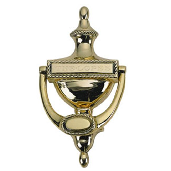 BRASS Accents A06-K0170-605 Rope Door Knocker 8 inch Polished Brass