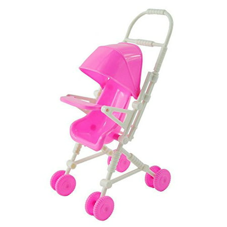 Baby Infant Carriage Stroller For Kelly Doll,Plastic Furniture Mini Doll Stroller Toys Pink Kids