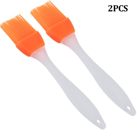 Nickel Kitchen Brush - Basting Brush and Pastry Brush-Set Of 2 Silicone Brush, Kitchen Basting Brush - 7 Inch-Great For BBQ Meat,Grill,Cakes and Pastries