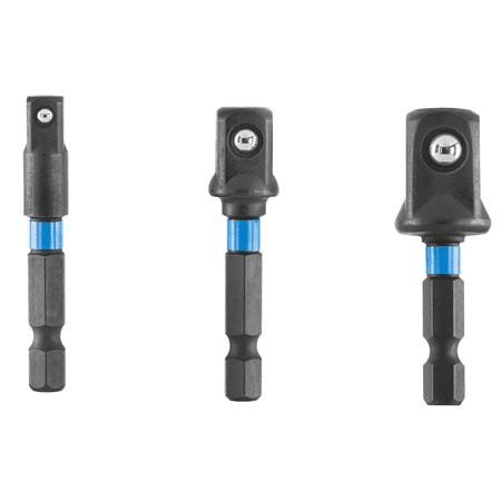 HART 3-Piece Socket Adapter Set, 1/4-inch, 3/8-inch, 1/2-inch