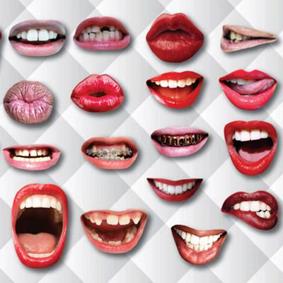 KABOER 20  PCS Party Photo Booth Props of Colorful Lips Shape with  Funny Mouth Lips Photo Booth Prop with Stick Selfie Props Accessories for Birthday Wedding Graduation Party