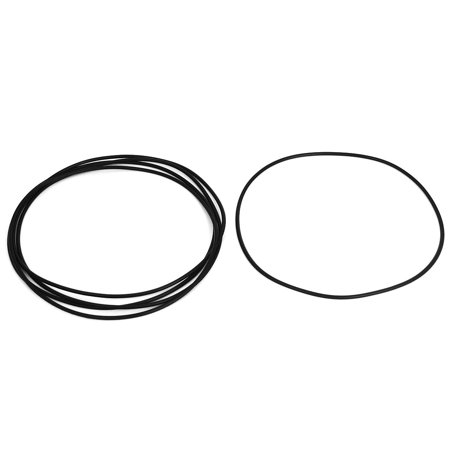 5pcs 132mm OD 128mm Inner Dia 2mm Thickness Rubber O Ring Oil Seal Gaskets Black - image 1 of 1