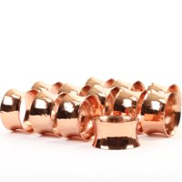 Koyal Wholesale 12-Pack Hammered Metal Napkin Rings, Copper for Weddding Reception, Christmas, Thanksgiving