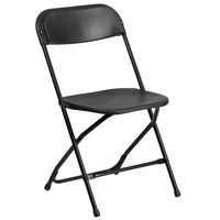 A Line Furniture Ontario Black Durable Folding Chairs