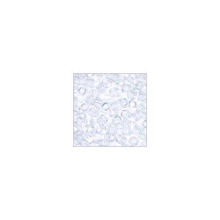 Miyuki Delica Seed Bead 11/0 Transparent Crystal (9 (Miyuki 11/0 Delica Beads Crystal)