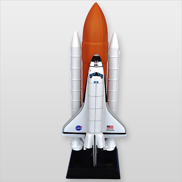 Space Shuttle F S Atlantis (L) Desktop Wood Model by Mastercraft Collection