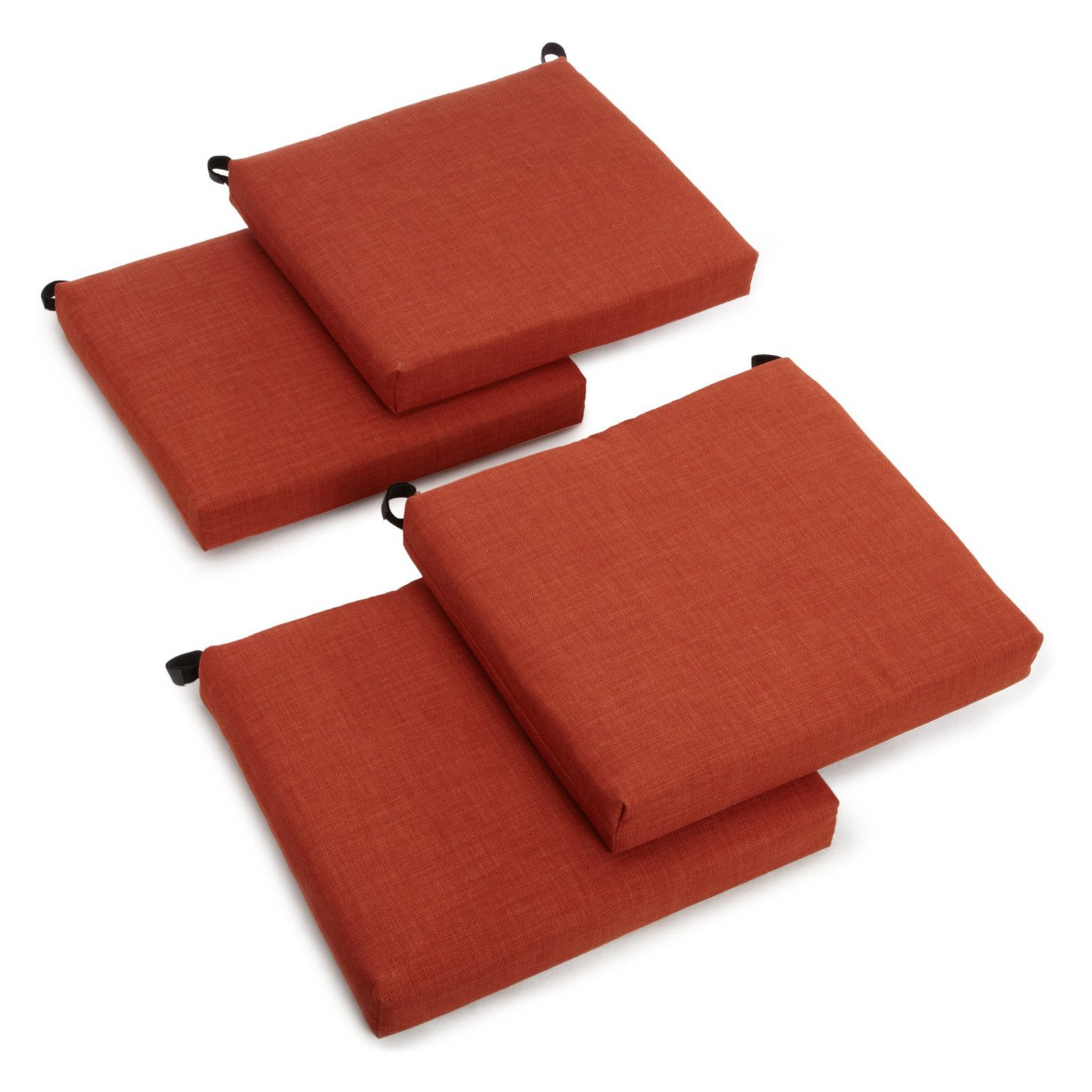 Product Image Blazing Needles Outdoor All Weather UV Resistant 4 Piece Patio  Chair Cushion Set