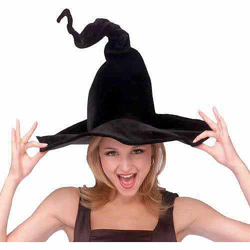 Wired Witch Hat Adult Halloween Accessory