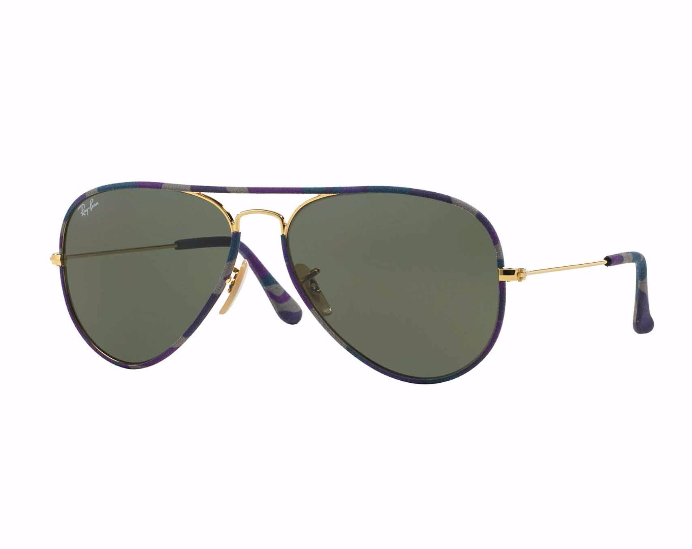 ray ban sunglasses frames walmart  ray ban men's aviator camouflage sunglasses w/ purple frame (58mm)