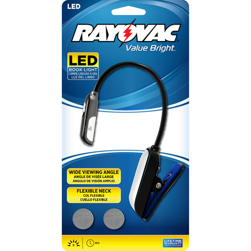 Rayovac Reading/Book Light with Batteries