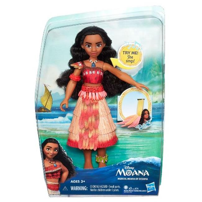 Hasbro HSBB8296 Disney Princess Moana Fashion Musical Moana of Oceania, Pack of 4 by