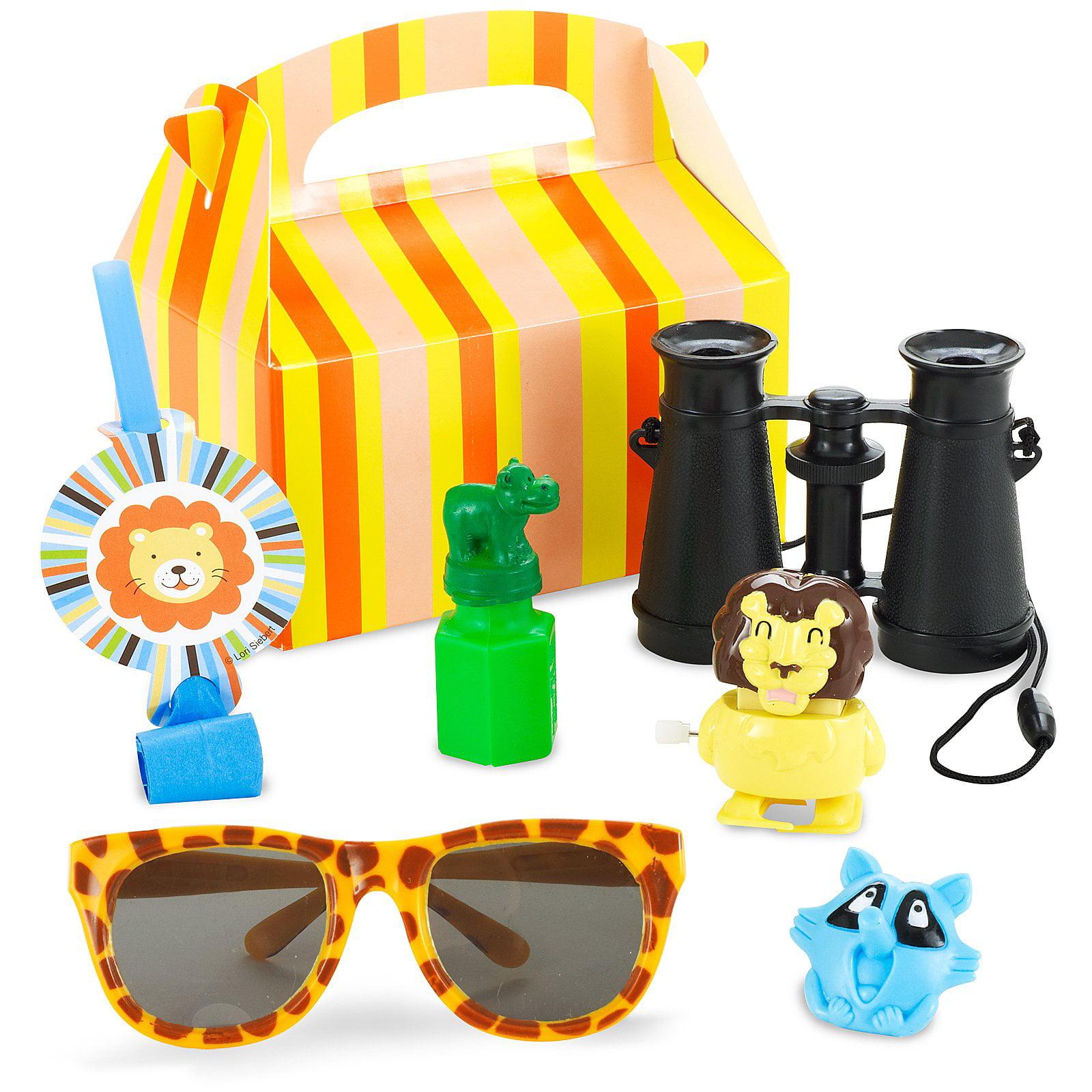 Birthday Express Sweet Safari Blue 1st Birthday Party Favor Box