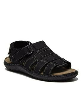 New Men's Alaska-08 Open Toe Leather Fisherman Comfort Velcro Sandals