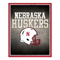Nebraska Cornhuskers Shadow Metallic Printed Canvas - 16W x 20H x 1D