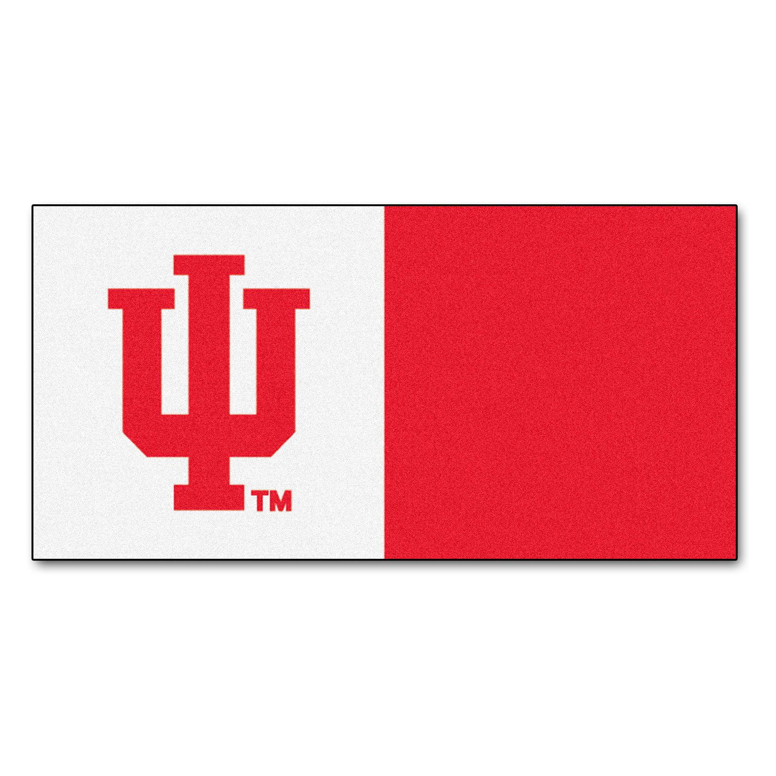 Carpet Tiles w Official Indiana University Hoosiers Logo