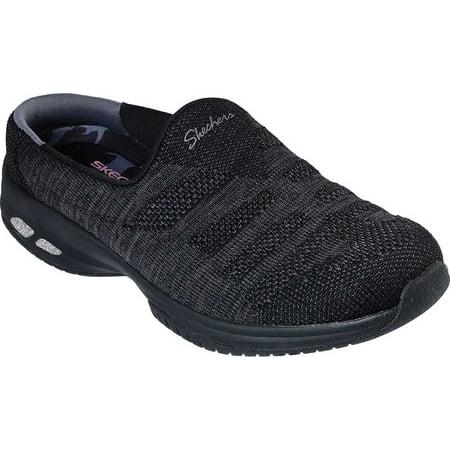 Details about Skechers D'Lites Slip On Mule Sneakers Womens Clogs Lightweigt Memory Foam