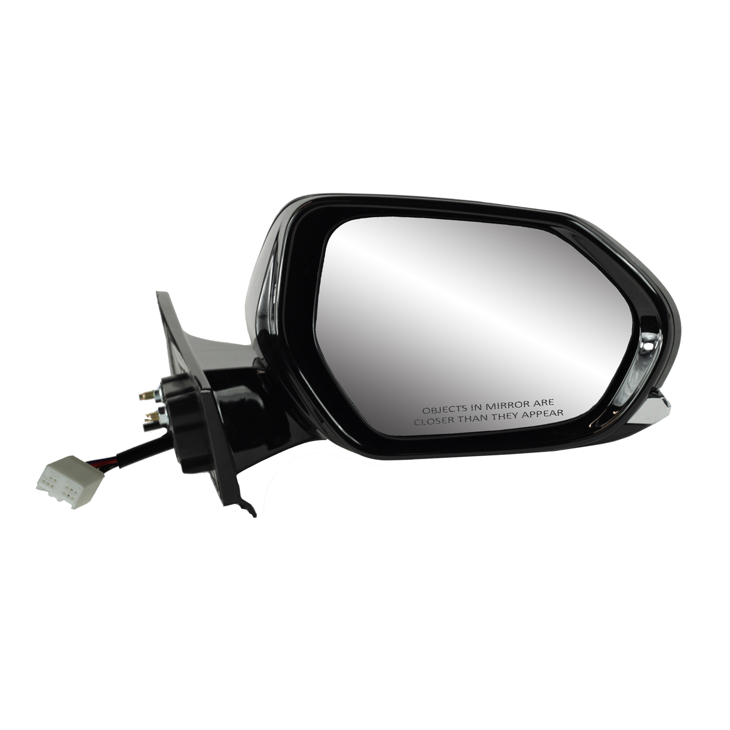 Fit System Driver Side Mirror for Toyota Highlander Blind spot Detection System Heated Power 70188T w//o Around View Monitor w//Turn Signal Foldaway Textured Black w//PTM Cover w//o Memory