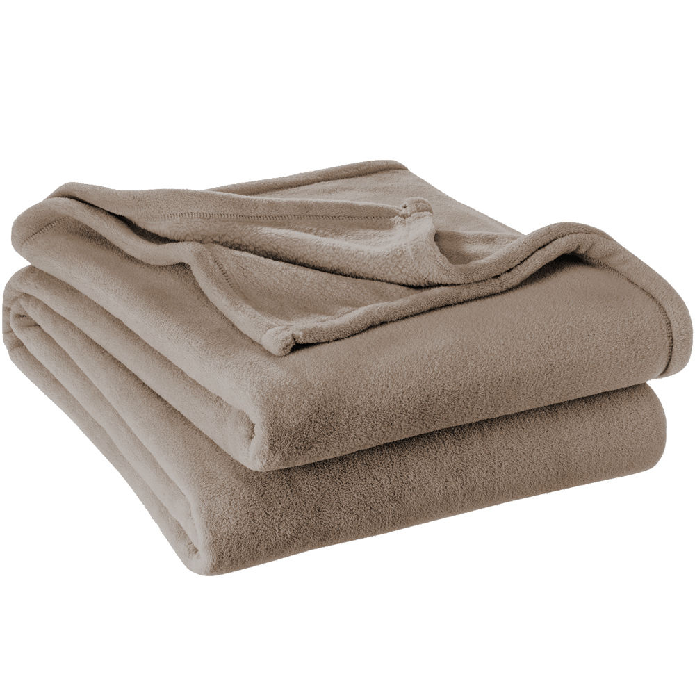 Microplush Super Soft Blanket (King, Taupe) by