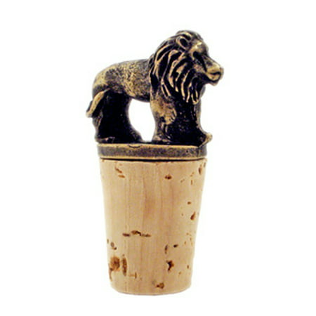 Metal Brass African Safari Animals Wine Stoppers Gift Ideas (Lion) - Safari Ideas