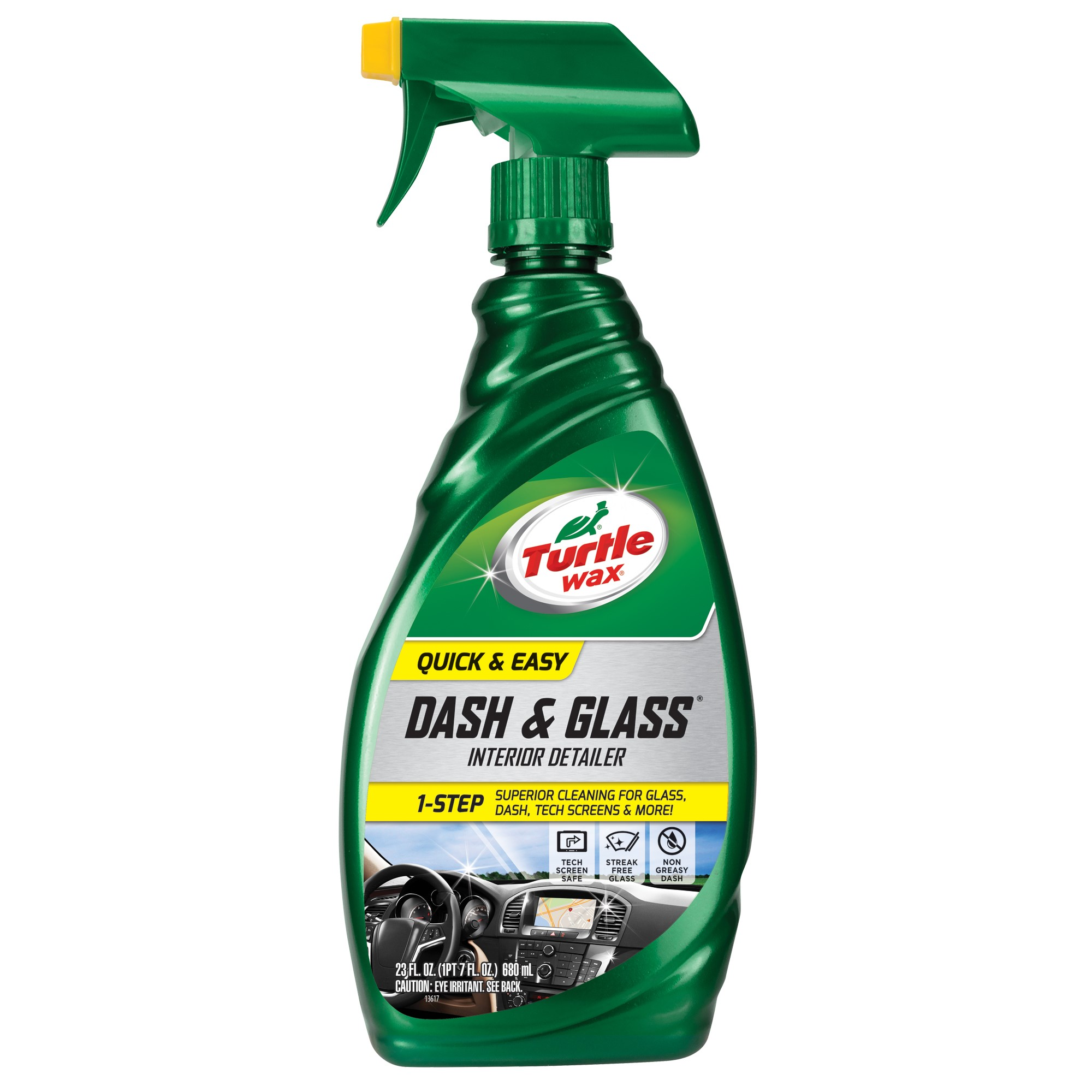 Turtle Wax Quick & Easy Dash & Glass Interior Cleaner, 23.0 FL OZ