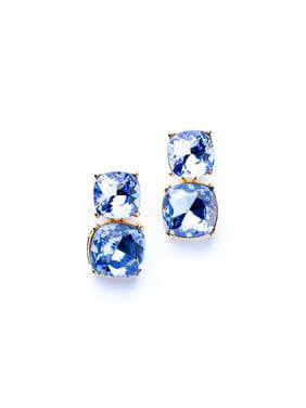 Sapphire Square Pierced Earrings