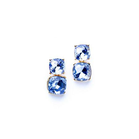 Sapphire Square Pierced Earrings Alabama Ladies Sapphire