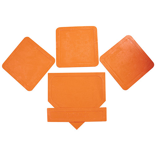 Orange Throw Down Bases, 5-Piece