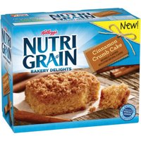Product Image 2 Pack Kelloggs NutriGrain Bakery Delights Cinnamon Crumb Cake 705 Oz 5 Ct
