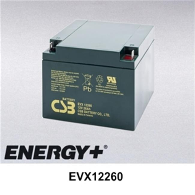 FedCo Batteries Compatible with  CSB EVX12260 26000mAh Sealed Lead Acid Battery