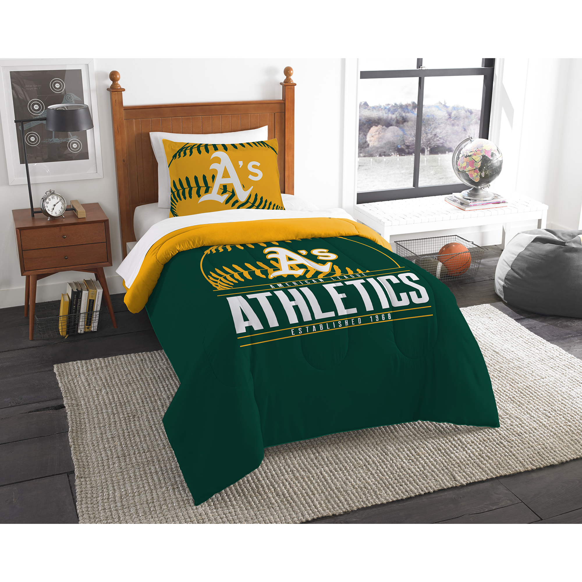 Oakland Athletics The Northwest Company Grand Slam Twin Comforter Set