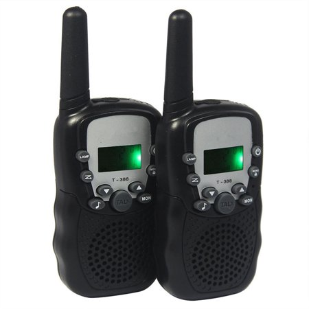 2pcs t 388 lcd walkie talkie 3km range 8 20 22 channels 2. Black Bedroom Furniture Sets. Home Design Ideas
