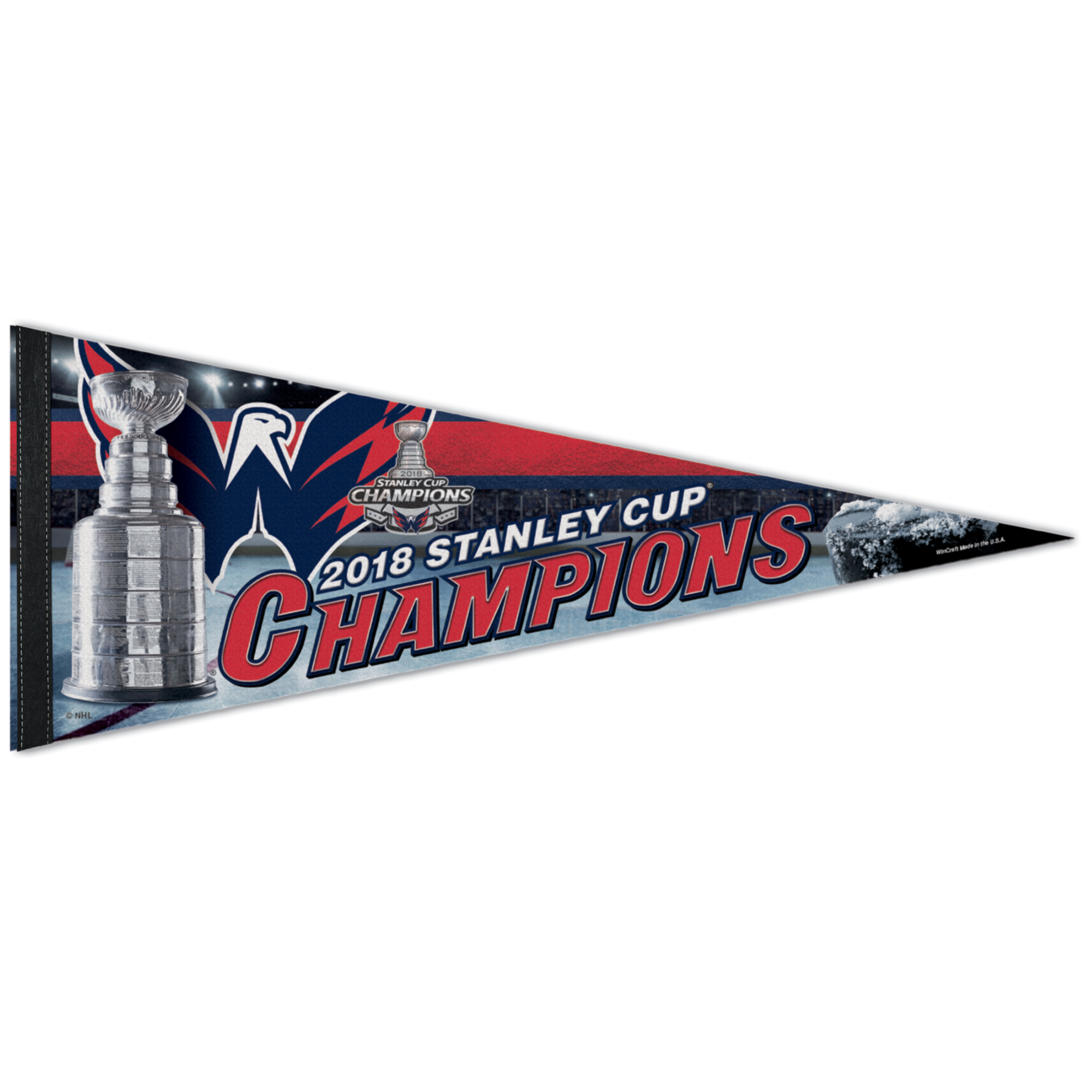 "Washington Capitals WinCraft 2018 Stanley Cup Champions 12"" x 30"" Locker Room Official On Ice Celebration Pennant - No Size"