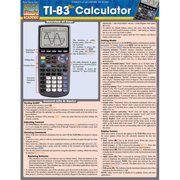 BarCharts 9781423216711 Ti-83 Plus Calculator Quickstudy Easel