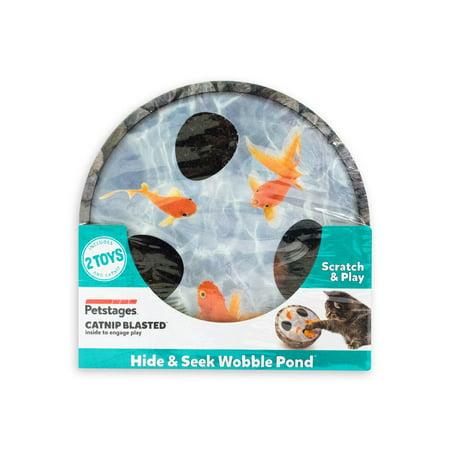 Hide & Seek Wobble Pond Interactive Scratch Cat Toy