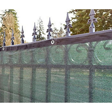Aleko 4 39 x 50 39 dark green fence privacy screen windscreen for Green privacy fence ideas