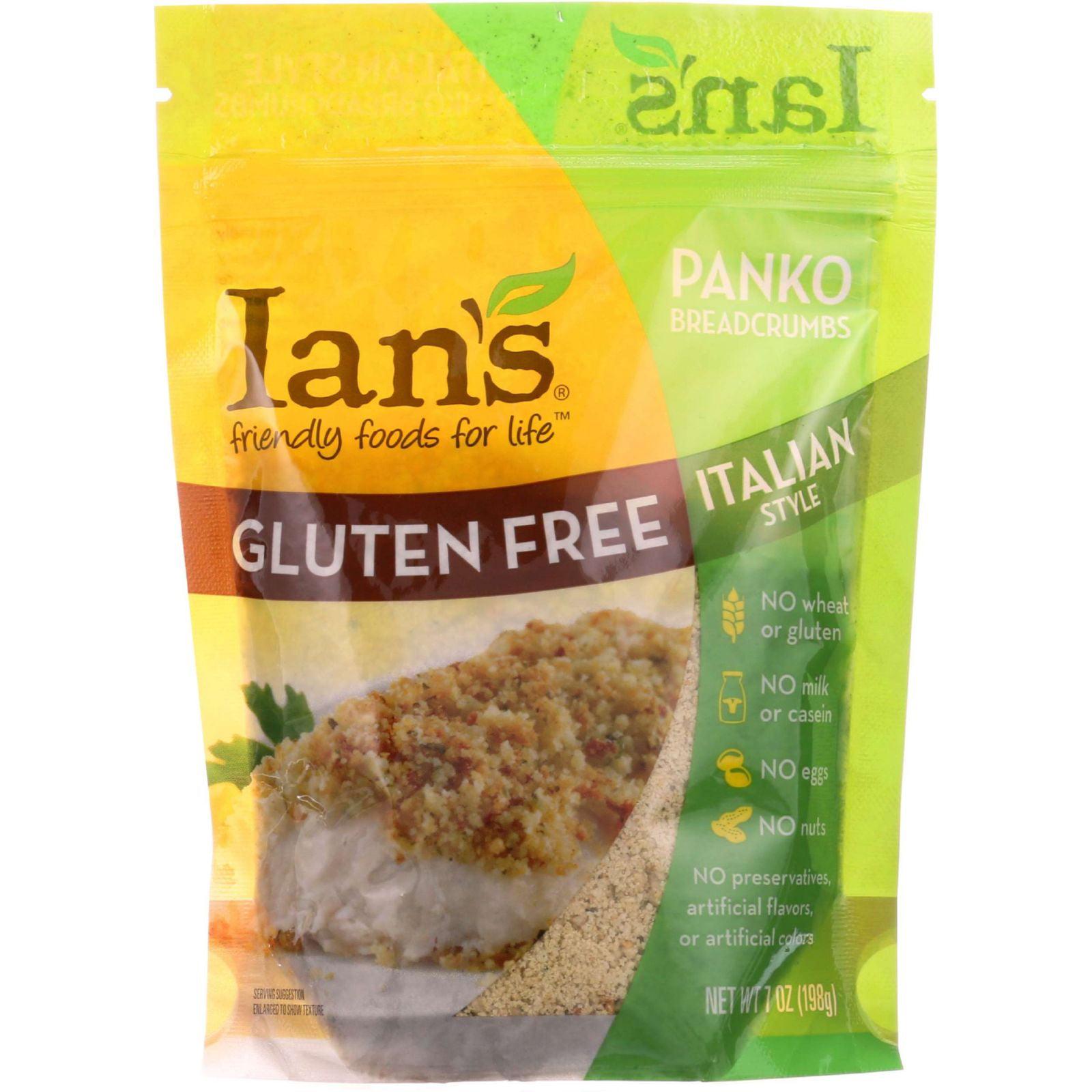 Ians Natural Foods Bread Crumbs Panko Italian Style Gluten Free 7 oz case of 8 by
