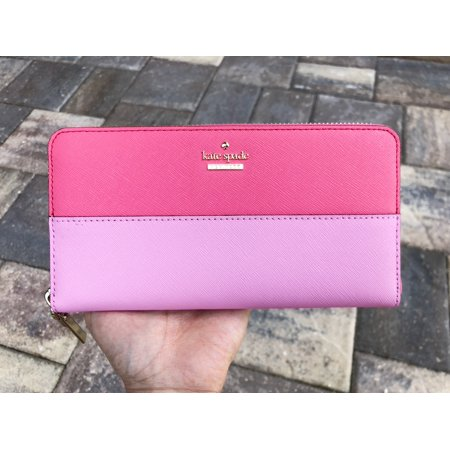 Kate Spade Cameron Street Lacey Large Zip Around Wallet Bright Flamingo